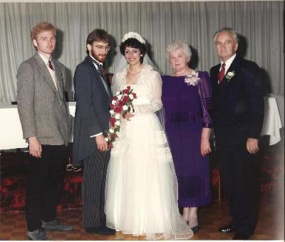 Our wedding October 1986